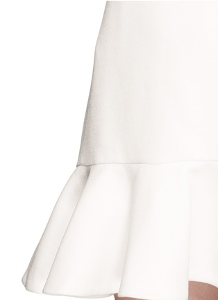 Detail View - Click To Enlarge - VICTORIA, VICTORIA BECKHAM - Flounce hem wool crepe shift dress