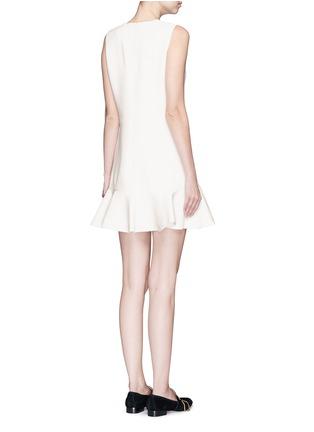 Back View - Click To Enlarge - VICTORIA, VICTORIA BECKHAM - Flounce hem wool crepe shift dress