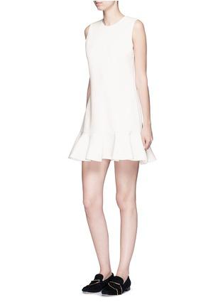 Figure View - Click To Enlarge - VICTORIA, VICTORIA BECKHAM - Flounce hem wool crepe shift dress