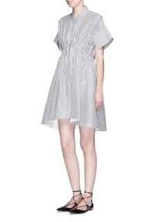 VICTORIA, VICTORIA BECKHAMCandy stripe cotton poplin shirt dress