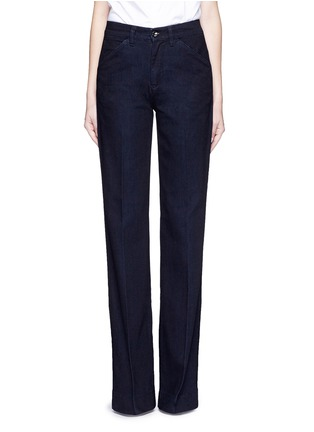 Detail View - Click To Enlarge - VICTORIA, VICTORIA BECKHAM - Wide leg broken twill jeans