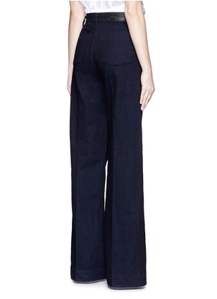 Back View - Click To Enlarge - VICTORIA, VICTORIA BECKHAM - Wide leg broken twill jeans