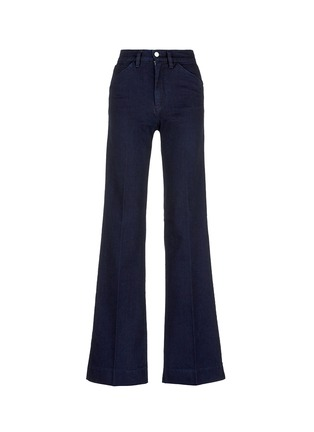 Main View - Click To Enlarge - VICTORIA, VICTORIA BECKHAM - Wide leg broken twill jeans