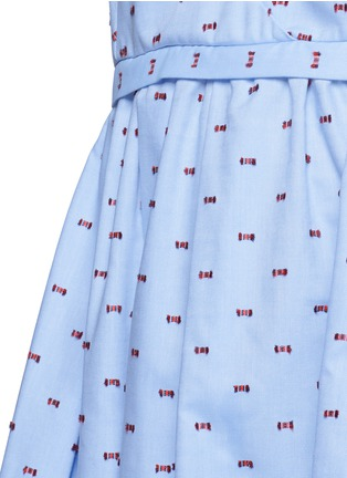Detail View - Click To Enlarge - VICTORIA, VICTORIA BECKHAM - Bow fil coupé chambray camisole dress