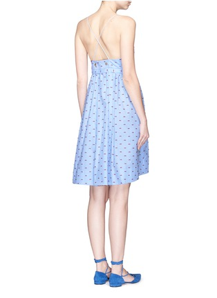 Back View - Click To Enlarge - VICTORIA, VICTORIA BECKHAM - Bow fil coupé chambray camisole dress