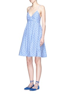 VICTORIA, VICTORIA BECKHAMBow fil coupé chambray camisole dress