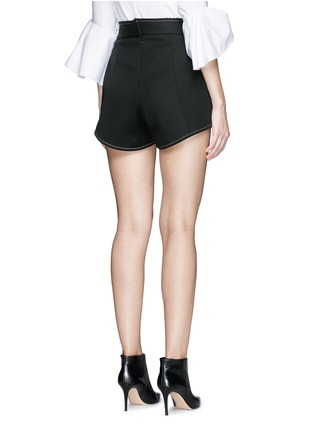 Back View - Click To Enlarge - Ellery - 'Groupie' bonded rib knit wool shorts