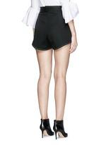 'Groupie' bonded rib knit wool shorts