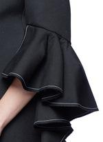 'Majesty' ruffle sleeve Oxford weave jacket