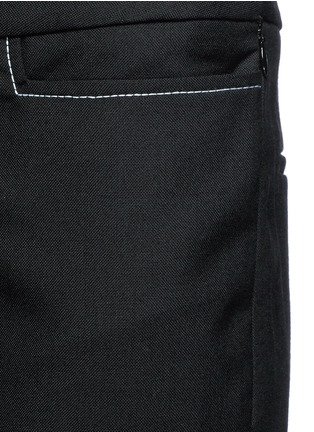 Detail View - Click To Enlarge - Ellery - 'Mazur' inseam stitch kick flare pants