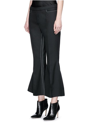 Front View - Click To Enlarge - Ellery - 'Mazur' inseam stitch kick flare pants