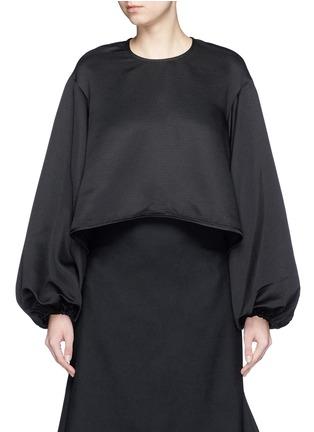 Main View - Click To Enlarge - Ellery - 'Tarot' balloon sleeve satin ottoman blouse