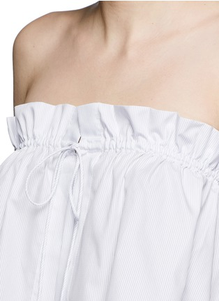 Detail View - Click To Enlarge - Ellery - 'Hot Wax' pinstripe cropped bandeau top