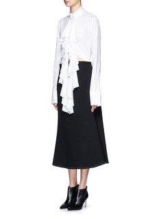 ELLERY 'Expelled' ruffle front cotton shirt