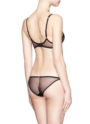 Back View - Click To Enlarge - L'Agent - 'Layla' floral lace mesh mini briefs