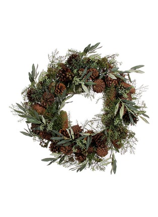 Main View - Click To Enlarge - Shishi As - Pinecone and olive wreath