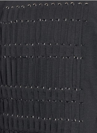 Detail View - Click To Enlarge - Lanvin - Braid front virgin wool blend top