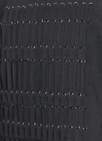 Braid front virgin wool blend top