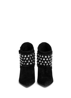 PEDRO GARCÍA'Adra' strass detachable glove suede ankle boots