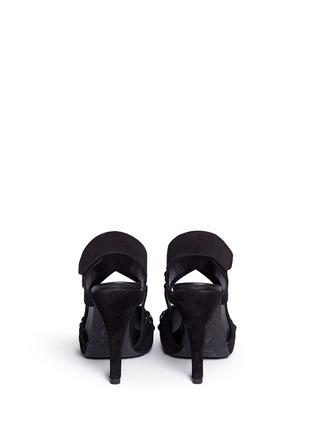 Back View - Click To Enlarge - Pedro García - 'Pietra' Swarovski crystal strap suede sandals