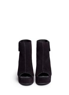PEDRO GARCÍA'Terrie' platform wedge suede sandal boots