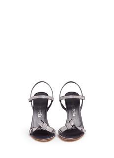 PEDRO GARCÍA'Candice' crystal pavé bow satin sandals