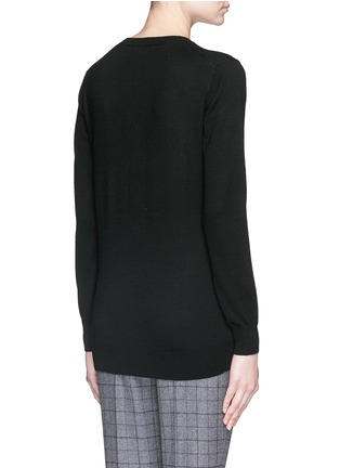 Back View - Click To Enlarge - MARKUS LUPFER - 'Dark Lara Lip' sequin Natalie sweater
