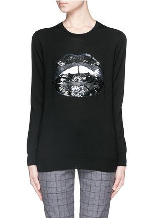 Main View - Click To Enlarge - MARKUS LUPFER - 'Dark Lara Lip' sequin Natalie sweater