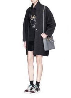 MARKUS LUPFER'Dark Strawberry' sequin Natalie sweater