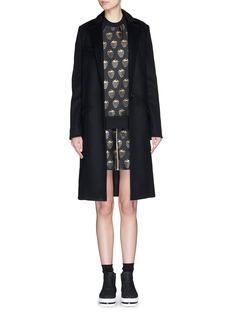 MARKUS LUPFER'Gold Lurex Strawberry' jacquard Dora zip skirt