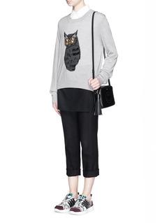 MARKUS LUPFER'Owl Embellished' Joey sweater