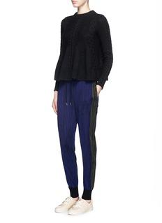 MARKUS LUPFER'Woodgrain Stripe' knit jogging pants