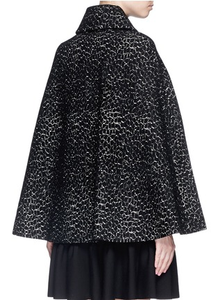 Back View - Click To Enlarge - Alaïa - 'Asteroide' velour knit cape