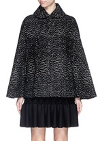 'Asteroide' velour knit cape