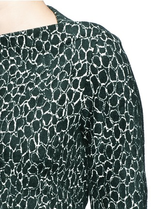 Detail View - Click To Enlarge - Alaïa - 'Asteroide' shatter squiggle jacquard knit dress