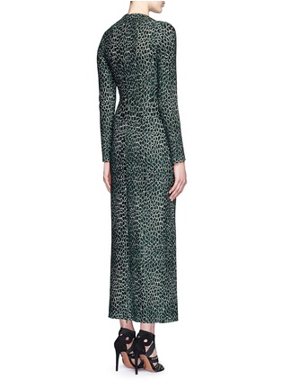 Back View - Click To Enlarge - Alaïa - 'Asteroide' shatter squiggle jacquard knit dress
