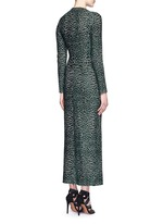 'Asteroide' shatter squiggle jacquard knit dress