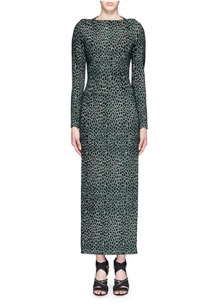 Main View - Click To Enlarge - Alaïa - 'Asteroide' shatter squiggle jacquard knit dress