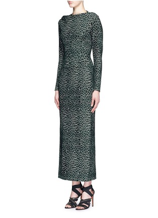 Figure View - Click To Enlarge - Alaïa - 'Asteroide' shatter squiggle jacquard knit dress