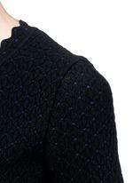 'Heliosphere' cloqué knit flare dress