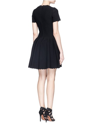 Back View - Click To Enlarge - Alaïa - 'Heliosphere' cloqué knit flare dress