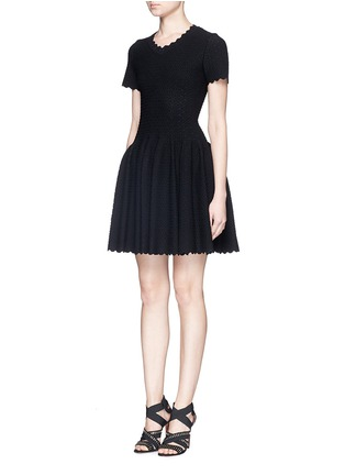 Figure View - Click To Enlarge - Alaïa - 'Heliosphere' cloqué knit flare dress