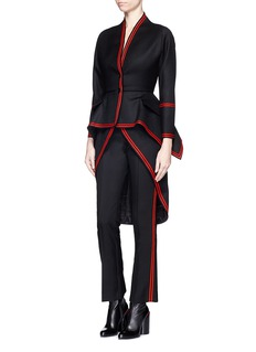 GIVENCHY Tuxedo stripe cropped suiting pants