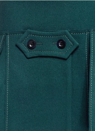 Detail View - Click To Enlarge - Sacai - Button tab front drop waist felt skirt