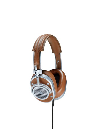 Main View - Click To Enlarge - MASTER & DYNAMIC - MH40 over-ear headphones - Brown Leather / Silver Metal