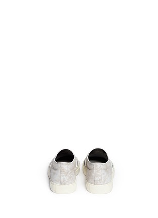 Back View - Click To Enlarge - Alexander McQueen - Skull poster suede sneaker slip-ons