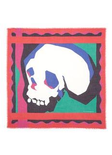 ALEXANDER MCQUEENGraphic skull modal-silk scarf