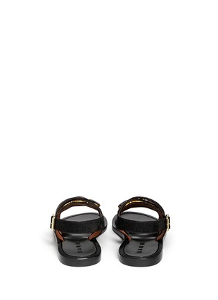Back View - Click To Enlarge - Marni - Jewel pony hair sandals