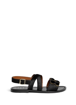 Main View - Click To Enlarge - Marni - Jewel pony hair sandals