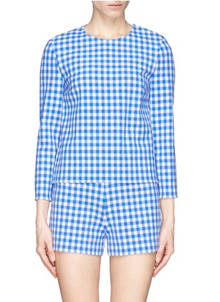 Main View - Click To Enlarge - DIANE VON FURSTENBERG - 'Giselle' gingham check print top